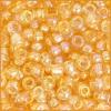 Seedbead 2/0 Transparent Topaz Aurora Borealis